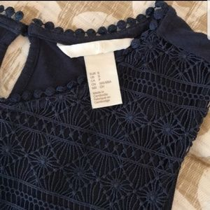 H&M Sleeveless Embroidered Top
